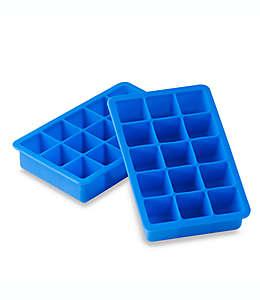 SALT™ Bandejas de silicón para hielos en azul, Set de 2