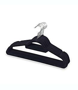 Ganchos para trajes en negro Real Simple® Slimline, 12 piezas