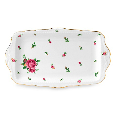 Royal Albert New Country Roses 11-Inch Sandwich Tray in White