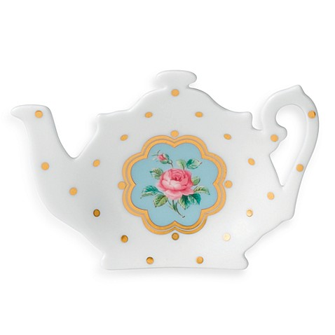Royal Albert New Country Roses Tea Bag Rest in White