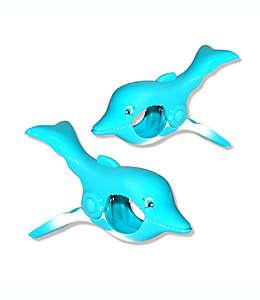 Pinzas para toalla Boca Clips®, con forma de delfín, Set de 2