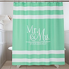 Wedded Pair Personalized Shower Curtain