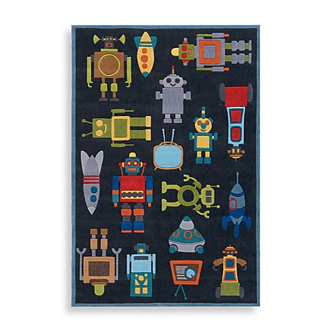 Momeni 'Lil Mo Whimsy 8-Foot x 10-Foot Area Rug in Steel Blue