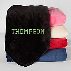 personalized throws bed bath beyond