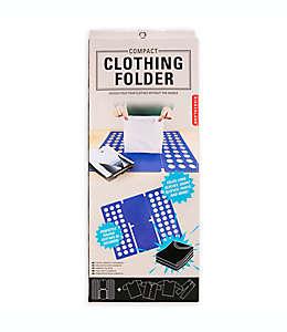 Kikkerland Design™ Doblador de ropa compacto en azul