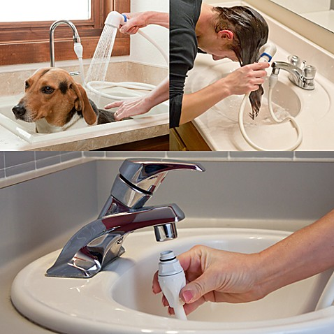 Rinse Ace Sink Faucet Rinser with Detachable 3 Hose - Bed Bath ...