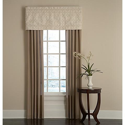 bridge street sonoma window valance in ivory - bed bath & beyond