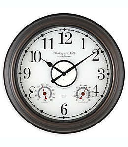 Reloj de pared Sterling & Noble® con luz en bronce