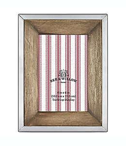 Bee & Willow™ Home Portarretratos de madera y metal, 12.7 x 17.78 cm