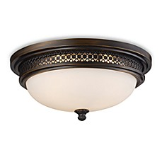 Ceiling lighting bed bath beyond image of elk lighting flush mount 3 light ceiling lamp in deep rust aloadofball Images