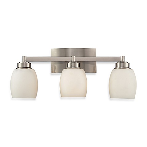 Elk lighting northport 3 light vanity in satin nickel bed bath beyond for Bathroom vanity tray satin nickel