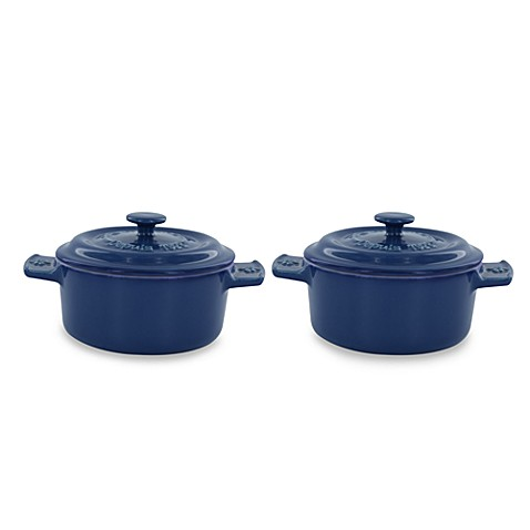 Fontignac Ceramic Round Mini Cocotte in Blue