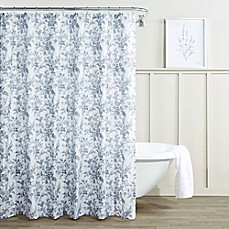 Laura AshleyR Annalise Floral Shadow Shower Curtain In Grey