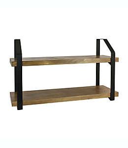 Bee & Willow®  Repisa de metal y madera de 60.32 x 34.92 cm en café