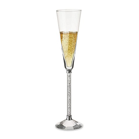 Oleg Cassini Crystal Diamond Toasting Flutes (Set of 2)