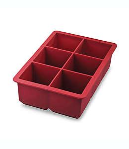 Tovolo® King Cube Charola de silicón para hielos grandes en rojo