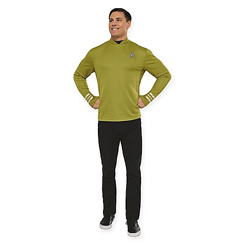 star trek captain kirk mens small halloween costume shirt