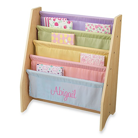 "KidKraft® Personalized ""Brianna"" Girl's Sling Bookcase with Pastel/Pink Lettering"