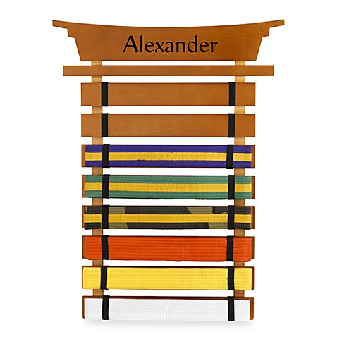 "KidKraft® Personalized ""Michael"" Boy's Marital Arts Belt Holder"