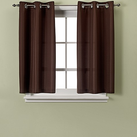 Hookless Waffle 45 Inch Bath Window Curtain Bed Bath Beyond