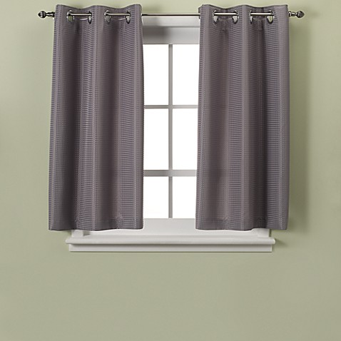 image of hookless waffle 45inch window curtain