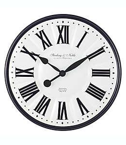 Sterling & Noble™ Reloj de pared esmaltado en negro