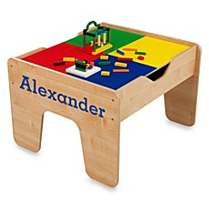 KidKraft® Personalized 2 In 1 Activity Table In Natural With Blue Lettering