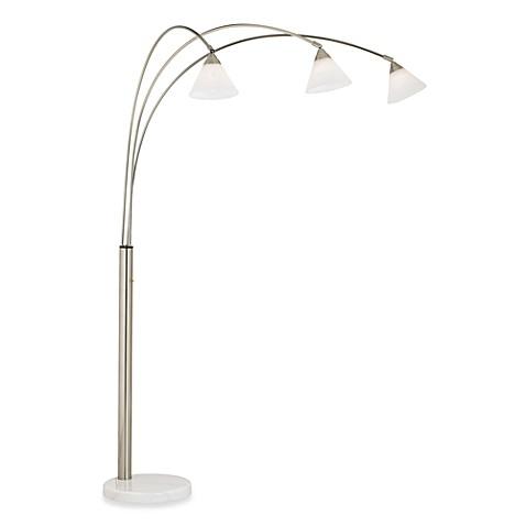 Pacific coast lightingr archway 3 light brushed steel for 3 light steel floor lamp
