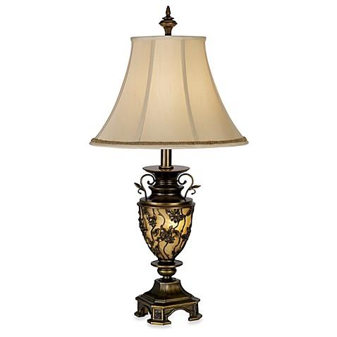 Kathy Ireland Home Southern Dogwood Table Lamp with Nightlight - Kathy Ireland Home Southern Dogwood Table Lamp With Nightlight