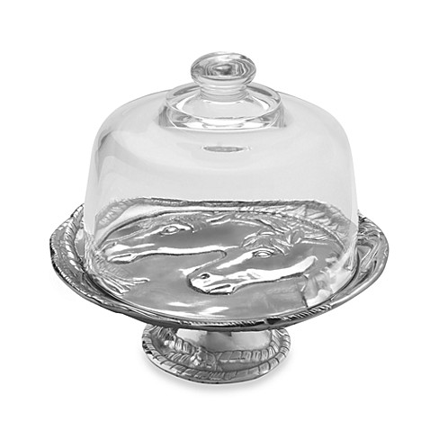 Arthur Court Designs Horse 8-Inch Footed Plate with Glass Dome