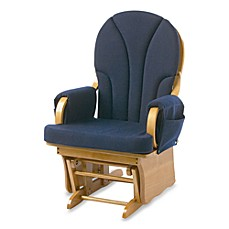image of foundations lullaby adult glider in naturalnavy blue