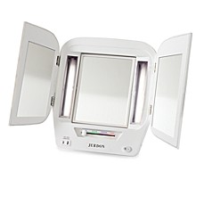 image of Jerdon Tri-Fold Lighted Magnification Mirror