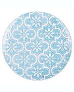 Plato trinche Porto de melamina en azul/blanco