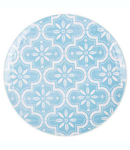 Plato trinche de melamina Tar Hong Porto color azul/blanco