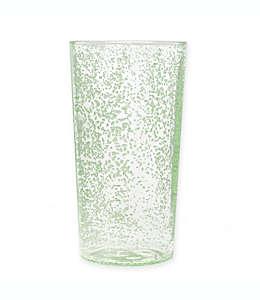 Vaso de plástico alto Tar Hong con diseño de burbujas color verde