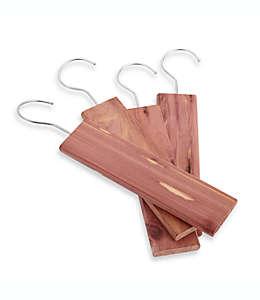 Bloques de cedro aromático con gancho, Paquete de 4