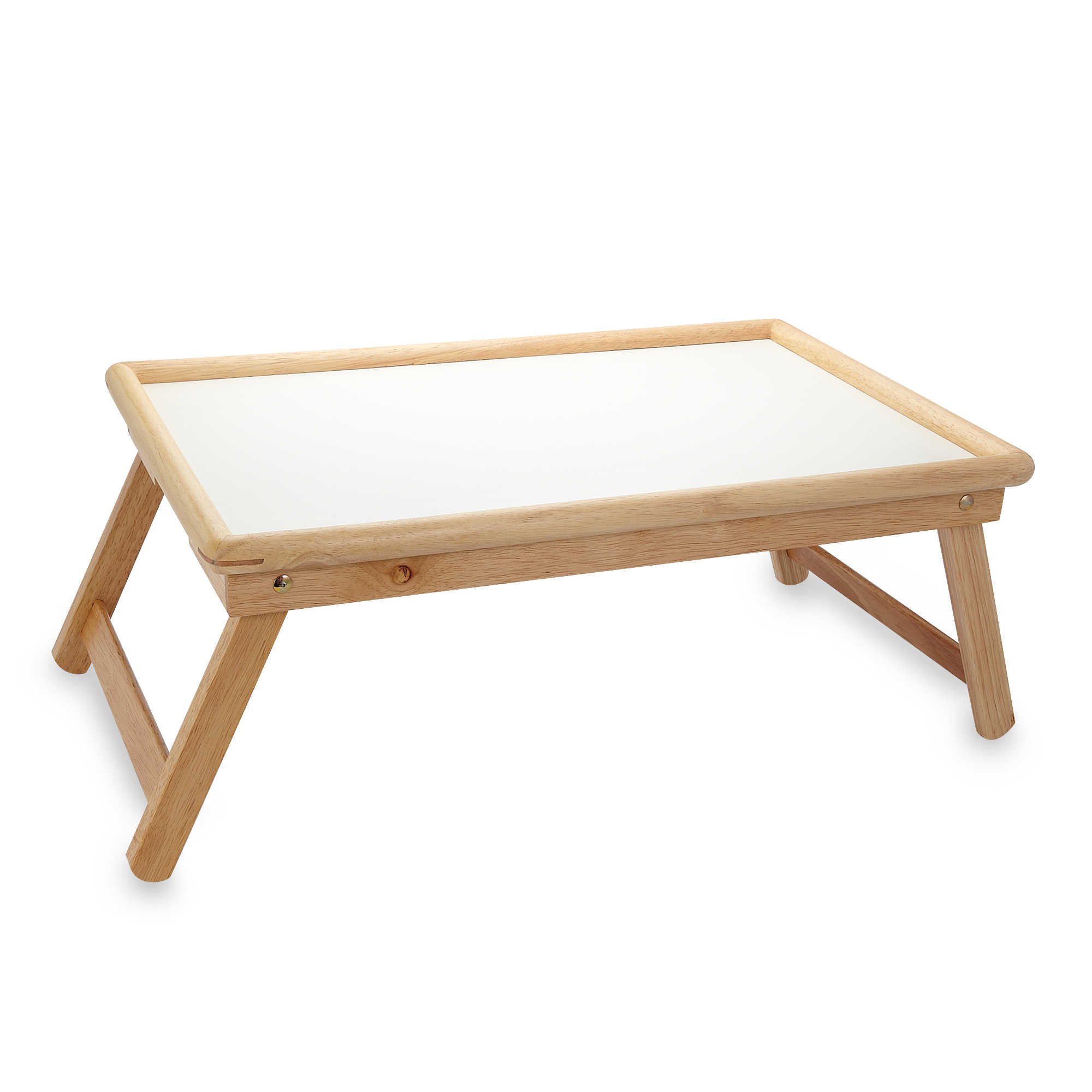 Folding legs pool table for sale - Beechwood Folding Bed Tray With White Laminate Top