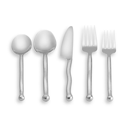 Gourmet settings exotique flatware bed bath beyond - Gourmet settings silverware ...