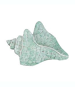 Adorno para pared de caracol de mar en verde espuma