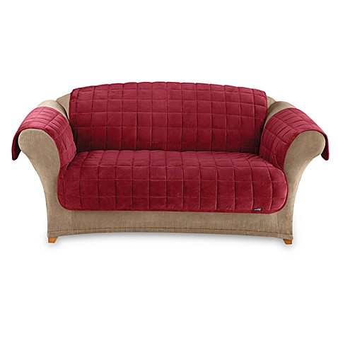 Buy Sure Fit Deluxe Pet Burgundy Furniture Loveseat Throw Cover From Bed Bath Beyond