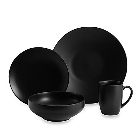 gibson home paradiso 16piece dinnerware set in black