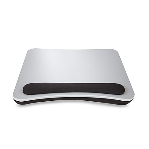 Portable Lap Desk With Wrist Pad In Silver Black Bed