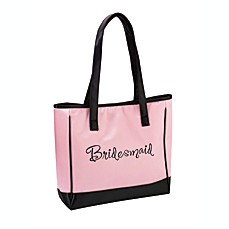 image of Lillian Rose™ Bridesmaid Pink Tote Bag