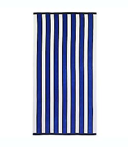 Caro Home Toalla de playa a rayas en azul/blanco