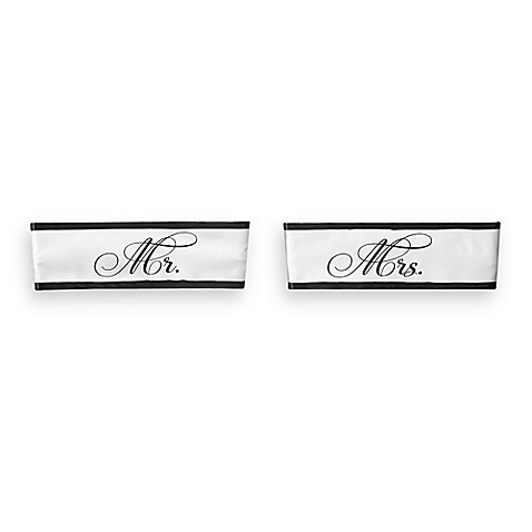 "Lillian Rose™ ""Mr."" and ""Mrs."" Wedding Chair Sashes"