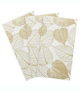 Toallas desechables de papel C.R. Gibson® con estampado de hojas, 16 piezas