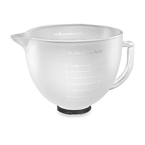 Kitchenaid frosted glass bowl for 5 qt artisan and tilt head stand mixers bed bath beyond - Kitchenaid glass bowl attachment ...