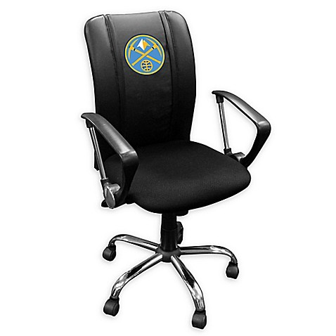Nba Denver Nuggets Curve Task Chair In Black With