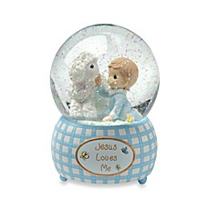 image of Precious Moments™ Jesus Loves Me - Boy Musical Water Globe