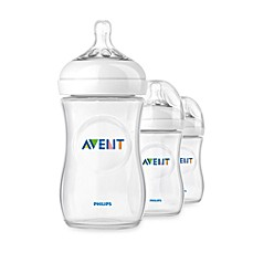 image of Phillips Avent Natural 3-Pack 9 oz. Bottles in Clear
